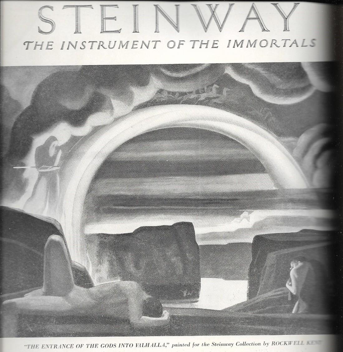 homoerotic rockwell kent ad for steinway, etude, nov. '29