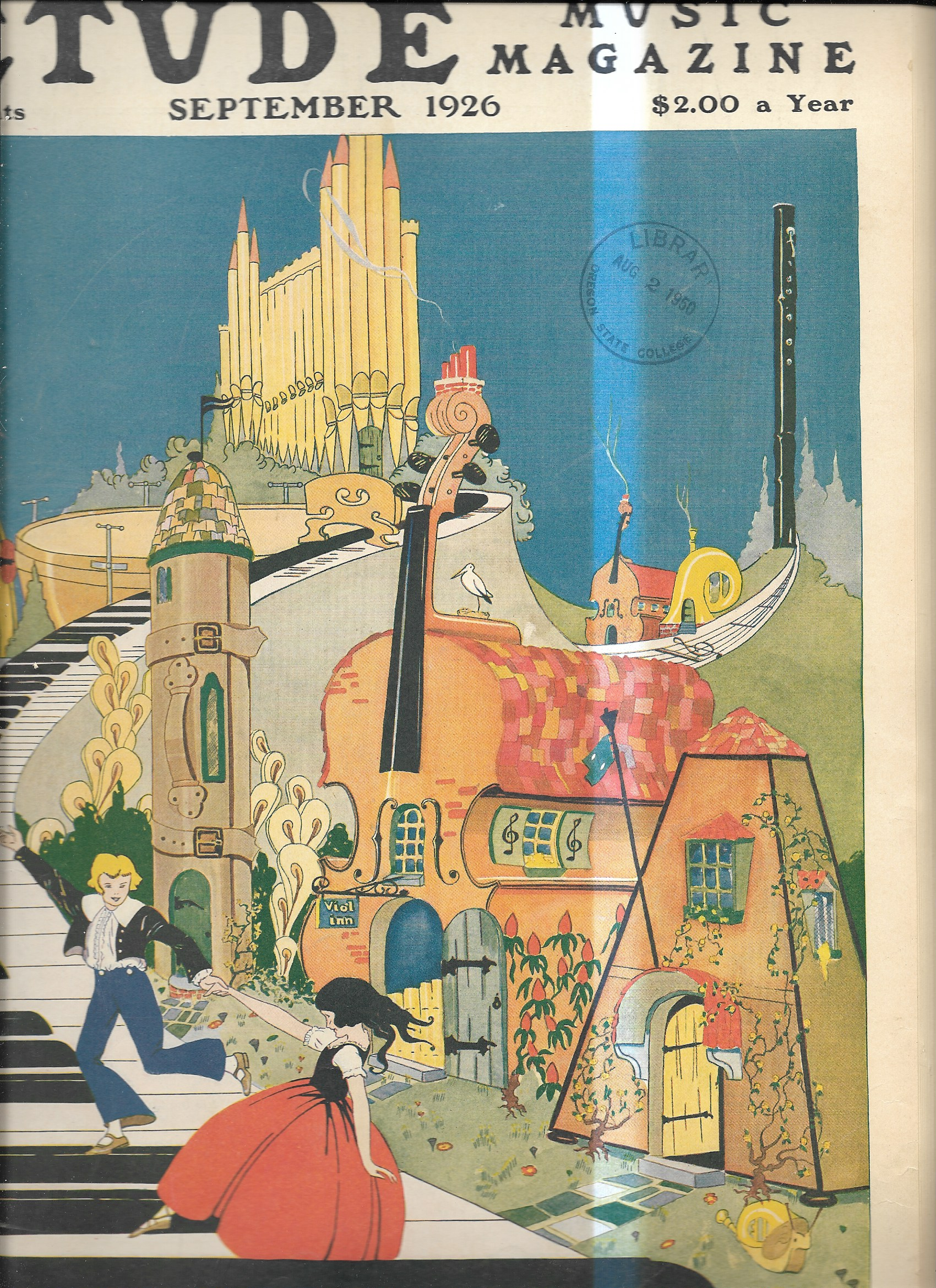 ETUDE COVER JULY 1926